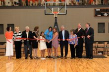 Students & Dignitaries Cut the Ribbon for the new Grissom High School