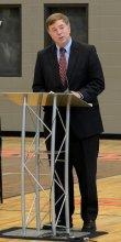 Mayor Battle at GHS Ribbon Cutting