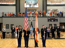 Students Present Colors at GHS Ribbon Cutting