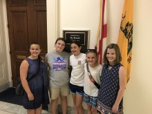 HCMS Students at Mo Brook's Office