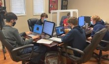 HHS Cyberpatriot Boys Team at the CyberPatriot competition