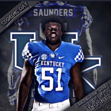 Khalil Saunders in his Jersey with Signing Day Date/Time (Expired)