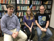 NCTHS National Merit Semifinalists Sitting Together in the Library