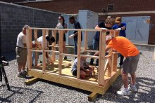 NCTHS Students Working on Playhouse Construction