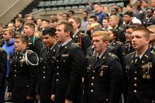 ROTC Students Calling Attention at Jelynn DeCrow awards ceremony
