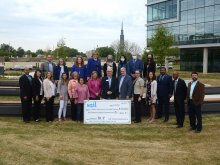 Large group of area school leaders along with YMCA, SChools Foundation, and Community Foundation of Greater Huntsville