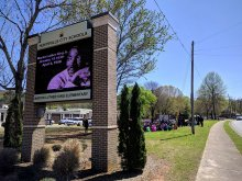 Digital sign honoring Dr. King at MLK Elementary