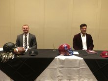 Tyler and Jackson at the HHS Signing Day