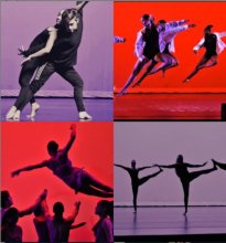 Collage of students in various dance poses