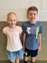 Whitesburg 3rd Grade Individual Winners Allie Spink & Ethan Bass
