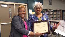 Dr. Linda Burrus & Principal Towana Smith Receive PBIS Awards