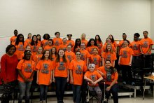 Whitesburg P-8 Choir with Kadence, Her Mom, and Teacher Katrina Shelby
