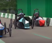 GreenPower Special 2017 Video Icon (Students racing in GreenPower Cars)