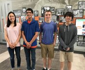 Alison Hu, Jack Smalligan, Conner Morgan, and Kevin Yang of Grissom High School
