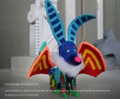 """Loco Alebrije"" artistic stuffed animal/model by Savanna Norwood"