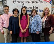 Alison Hu with Family, Ms. Bailey, and Ms. Greer