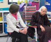 Centenarian Visits Chaffee