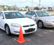 Driver's Education Cars Parked