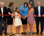 Students & Dignitaries Cutting the Ribbon at Grissom High
