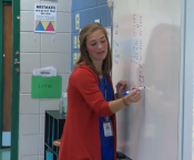 Ms. Grace Langhout Teaching Math