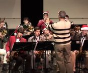Grissom Jazz Band Playing Christmas Music