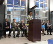 Dr. Mae Jemison at Ribbon Cutting Ceremony