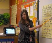 Ms. Mary Trumm teaching 1st grade at Lakewood Elementary School