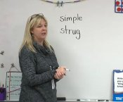 Mrs Stephane Stegen teaching her second-grade students