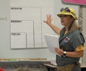 Ms. Karman Morgan Teaching Science