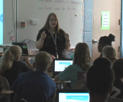 Ms. Becky May Teaching to Students