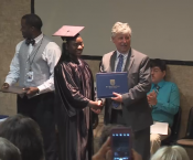 Student receives diploma through Project Search