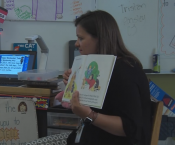 Ms. Sayward Lowery Reading to her First Grade Class