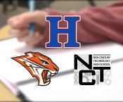 2019 U.S. News and World Report AL Top 25 Schools with Grissom, Huntsville High, and New Century Technology High Schools logos