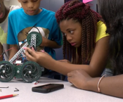 Students Enjoying Robotics Camp