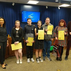 Fife Greenpower team from Scotland receives board resolution from Superintendent Finley